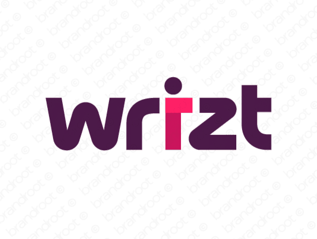 Wrizt logo design included with business name and domain name, Wrizt.com.