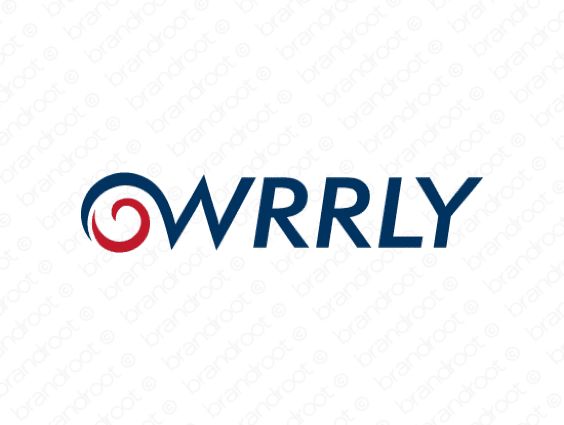 Wrrly logo design included with business name and domain name, Wrrly.com.