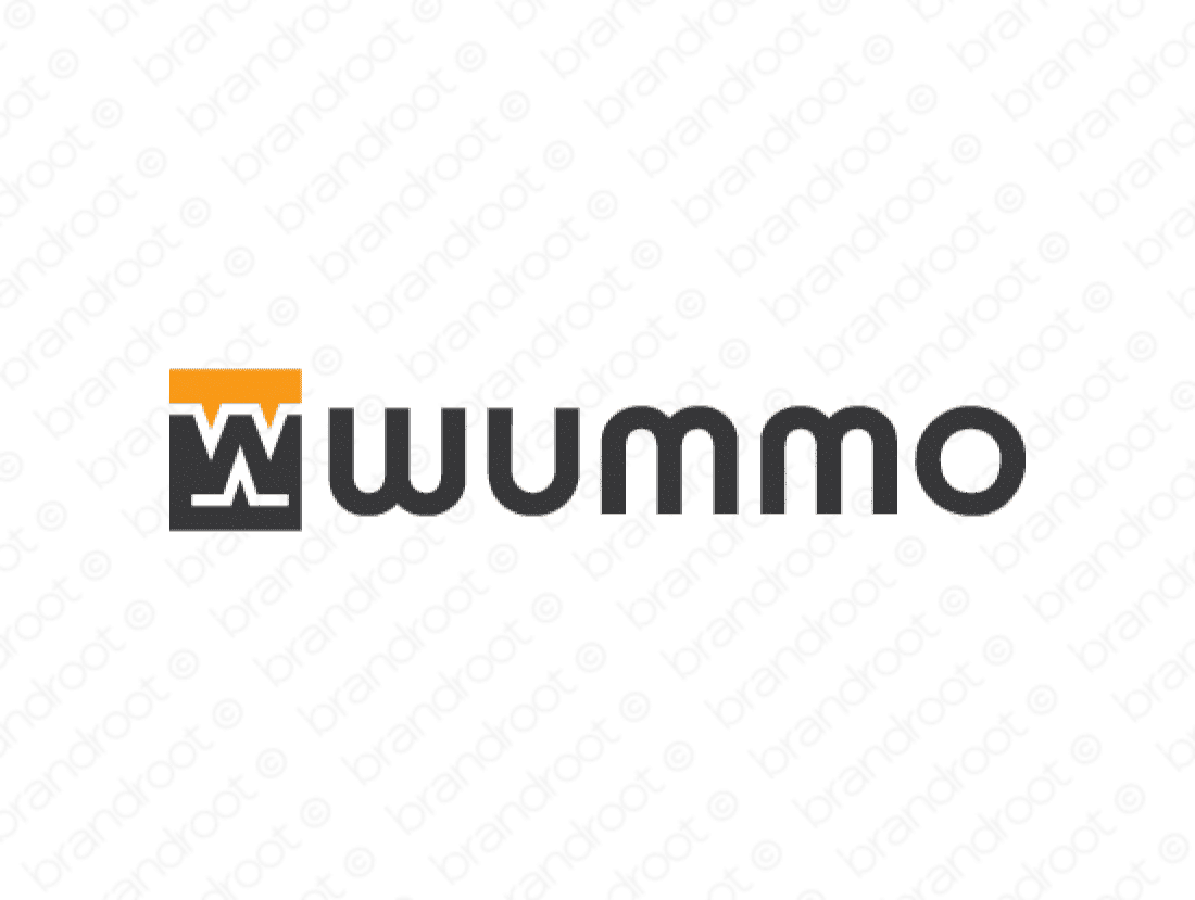 Wummo logo design included with business name and domain name, Wummo.com.