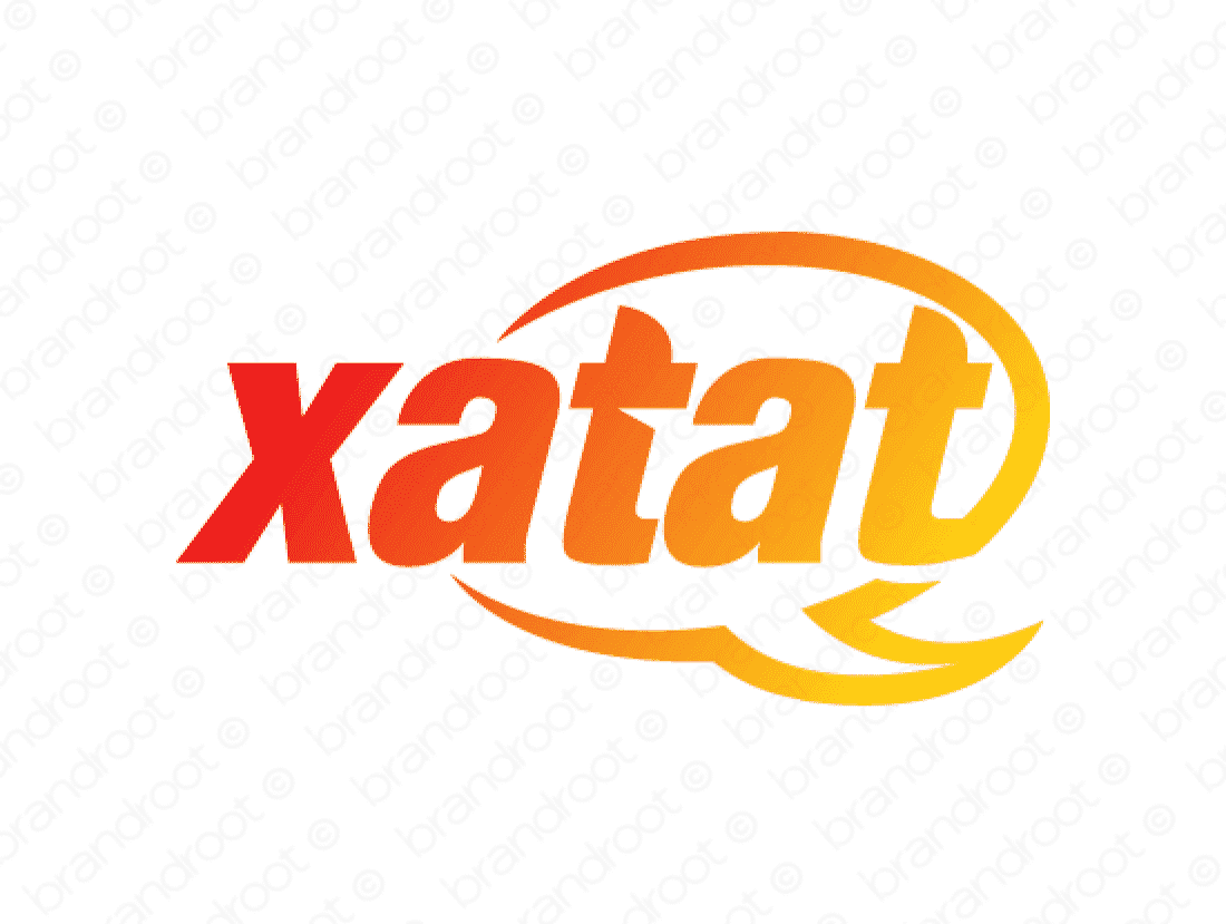 Xatat logo design included with business name and domain name, Xatat.com.