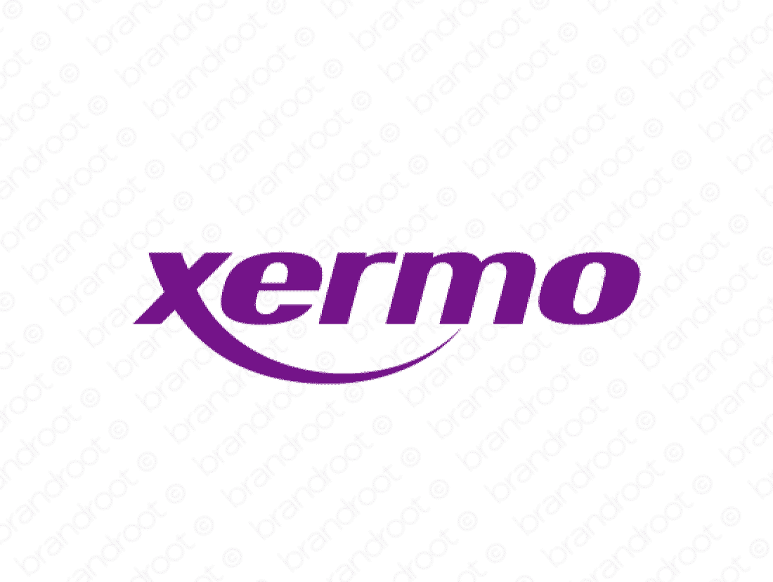Xermo logo design included with business name and domain name, Xermo.com.