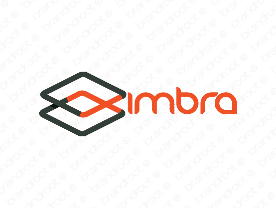 Ximbra logo design included with business name and domain name, Ximbra.com.