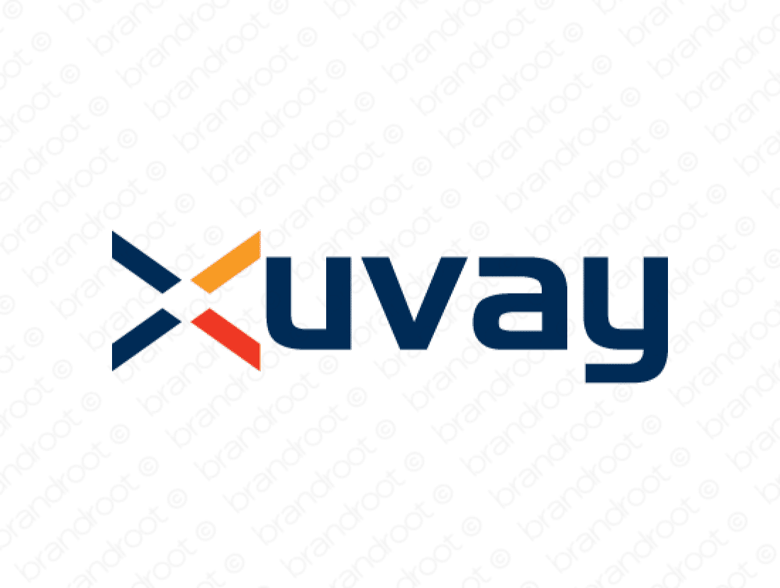 Xuvay logo design included with business name and domain name, Xuvay.com.
