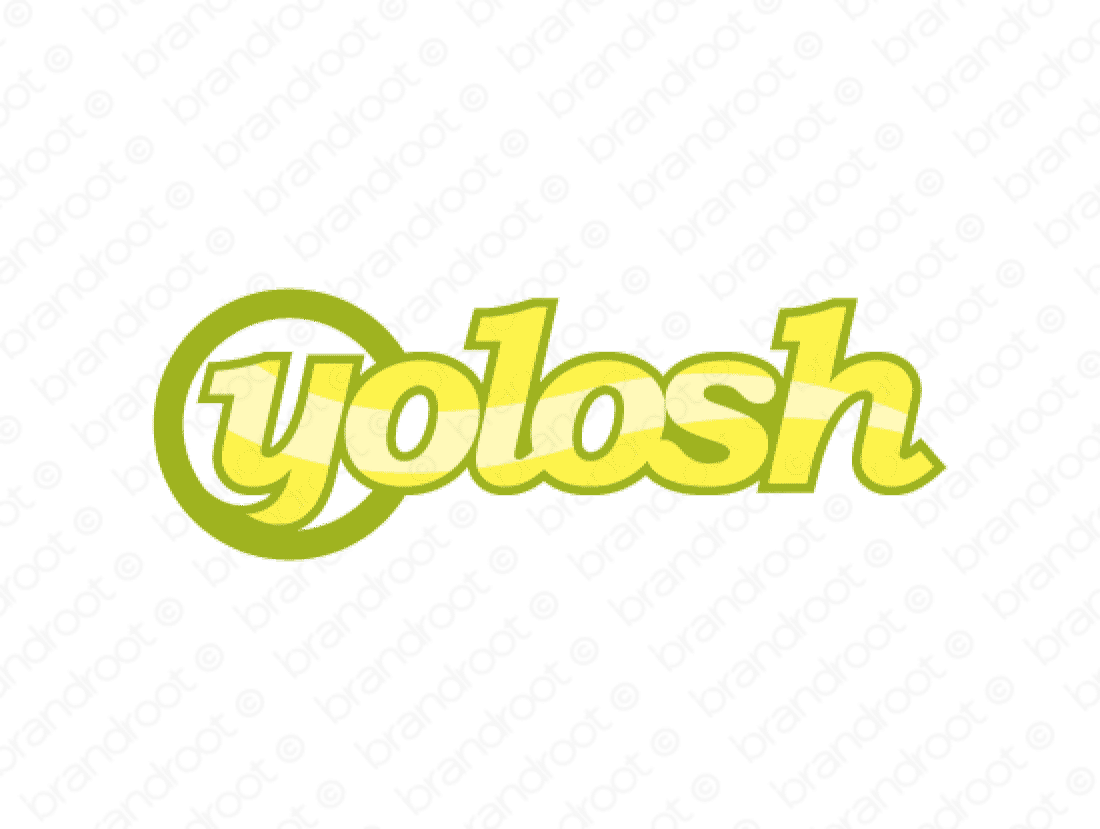 Yolosh logo design included with business name and domain name, Yolosh.com.