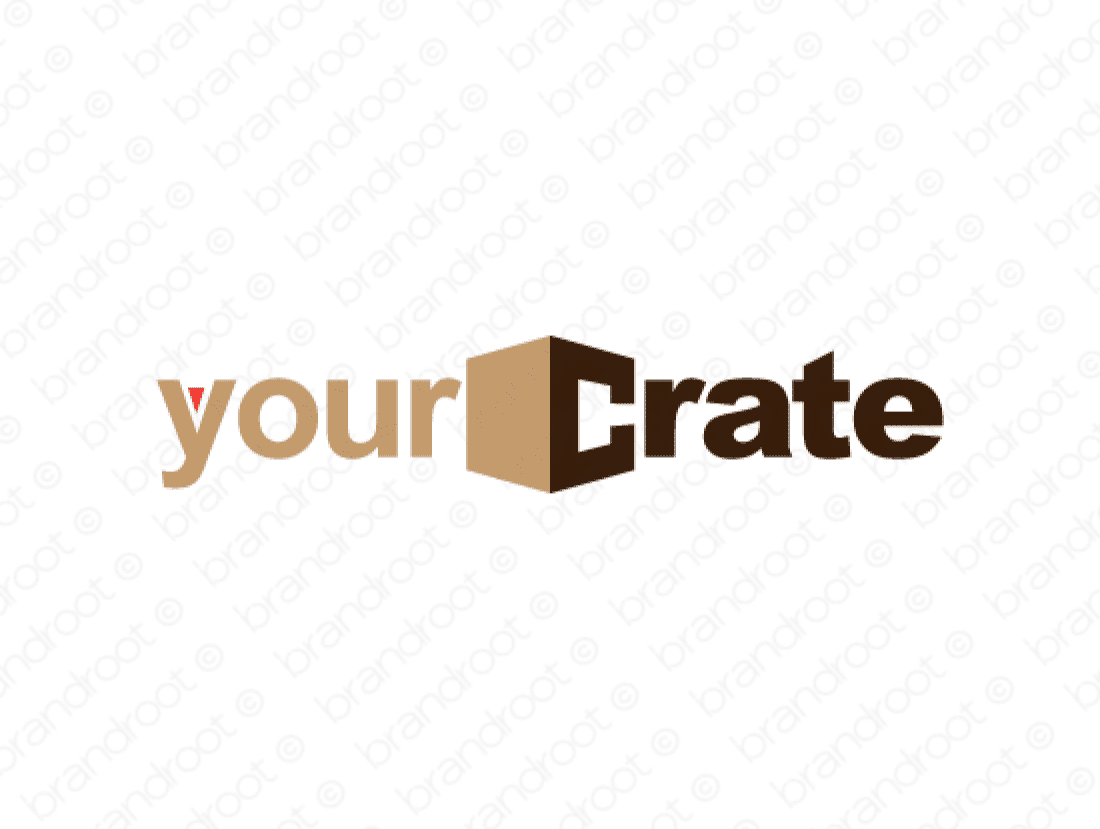 Yourcrate logo design included with business name and domain name, Yourcrate.com.