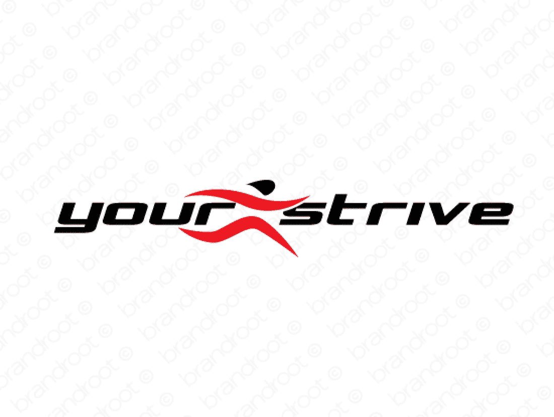 Yourstrive logo design included with business name and domain name, Yourstrive.com.