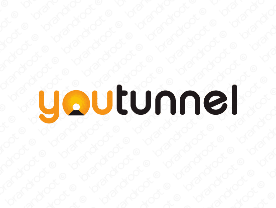 Youtunnel logo design included with business name and domain name, Youtunnel.com.