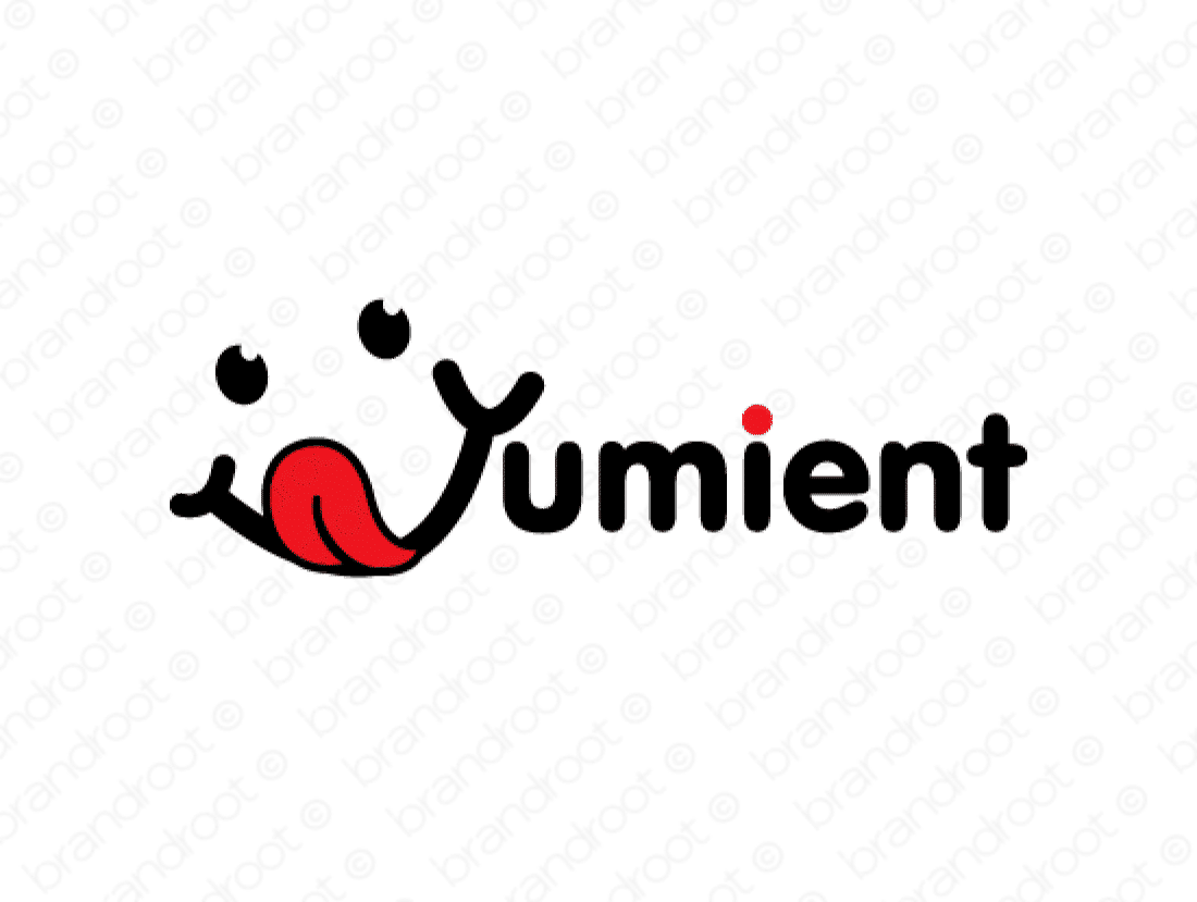 Yumient logo design included with business name and domain name, Yumient.com.