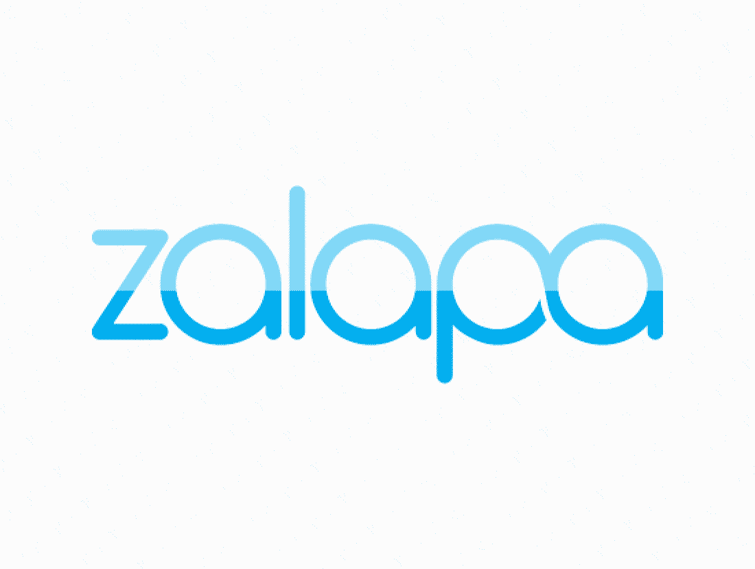 Zalapa logo design included with business name and domain name, Zalapa.com.