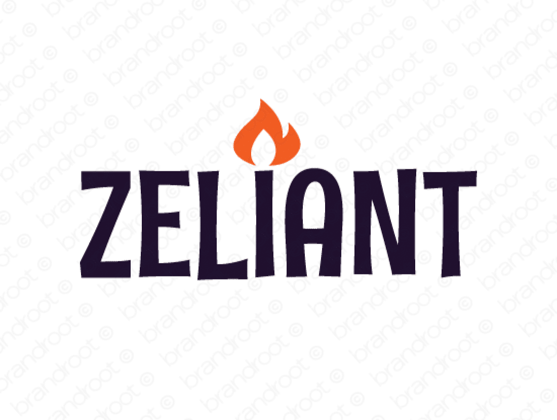 Zeliant logo design included with business name and domain name, Zeliant.com.