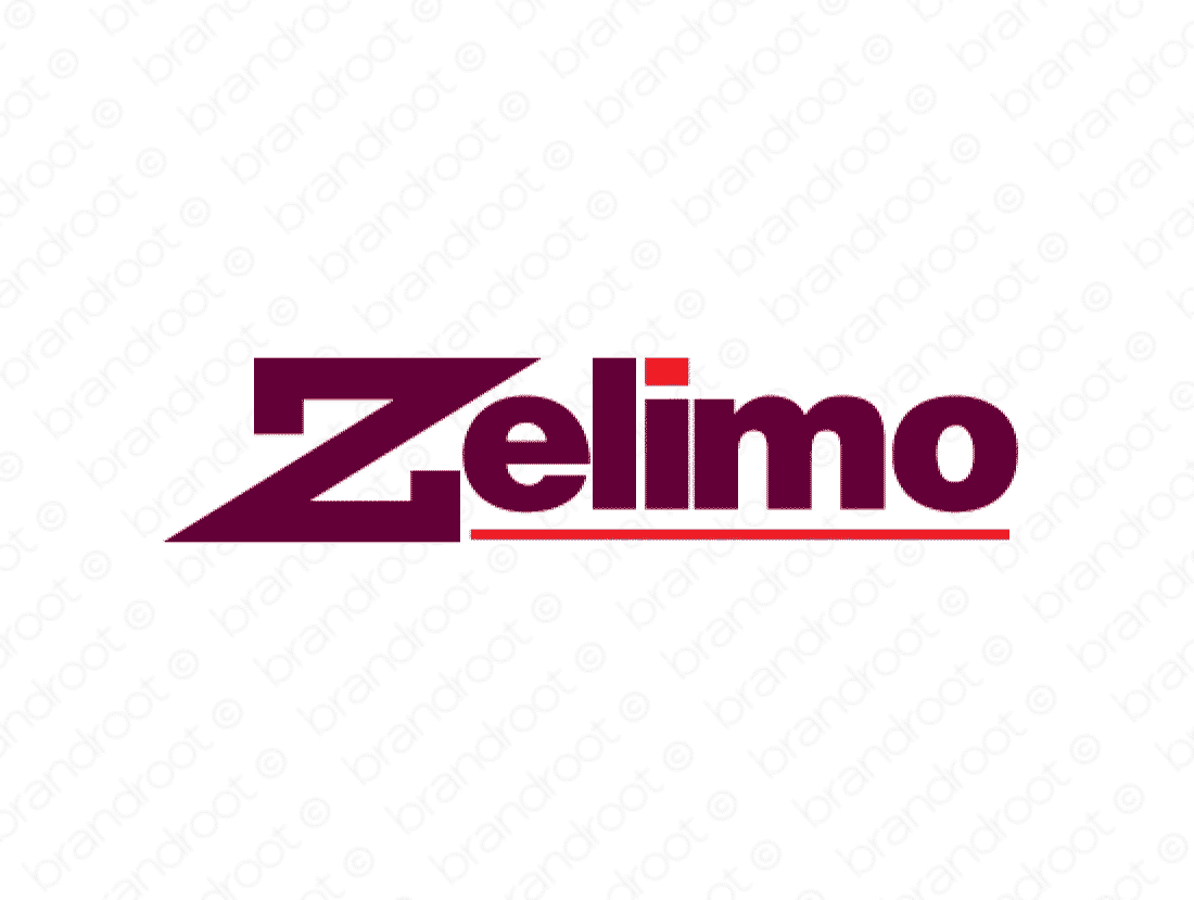 Zelimo logo design included with business name and domain name, Zelimo.com.