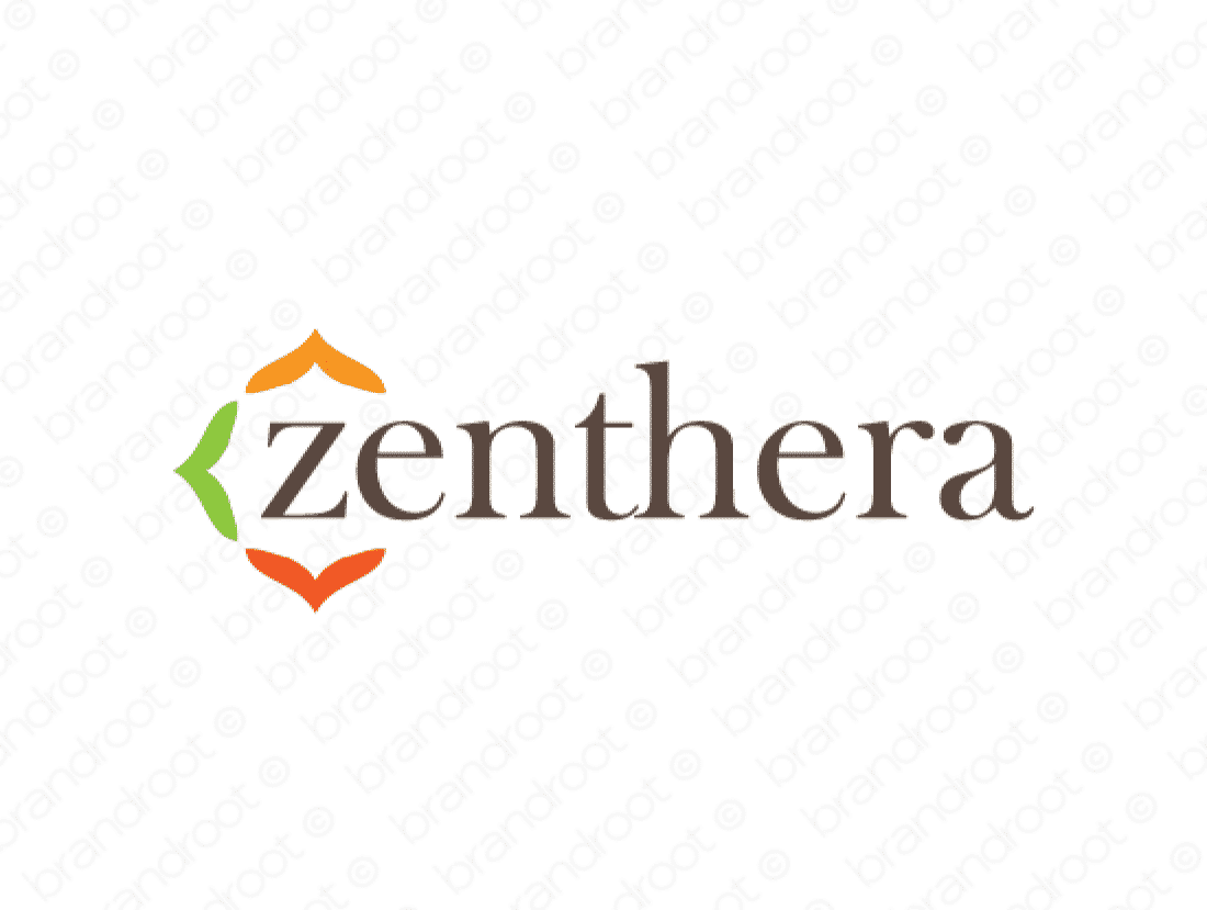 Zenthera logo design included with business name and domain name, Zenthera.com.