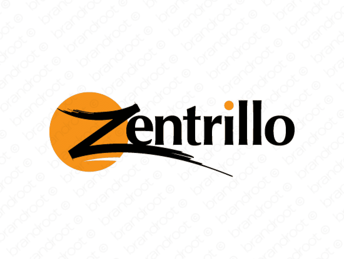 Zentrillo logo design included with business name and domain name, Zentrillo.com.