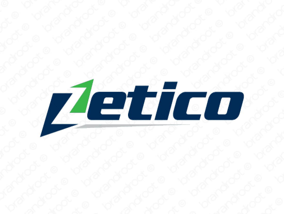 Zetico logo design included with business name and domain name, Zetico.com.