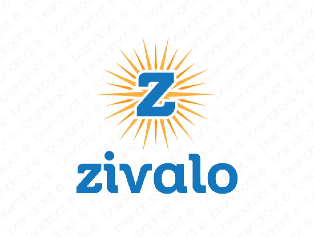 Zivalo logo design included with business name and domain name, Zivalo.com.