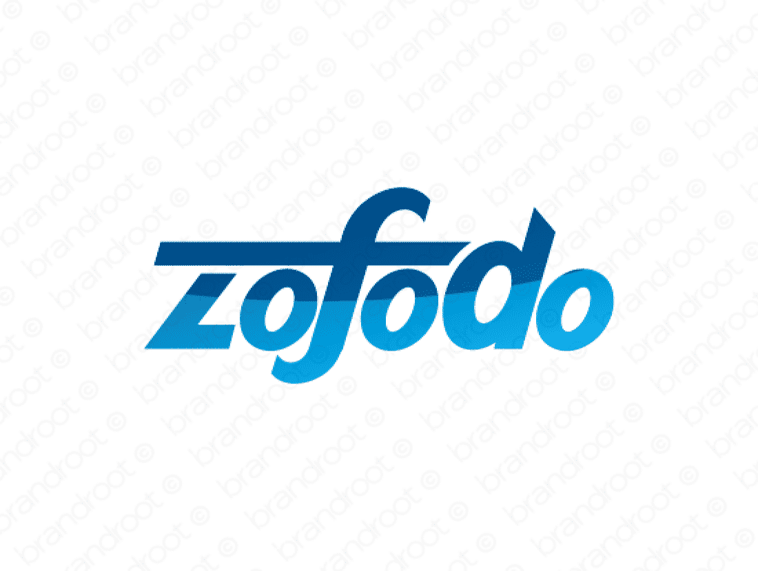 Zofodo logo design included with business name and domain name, Zofodo.com.