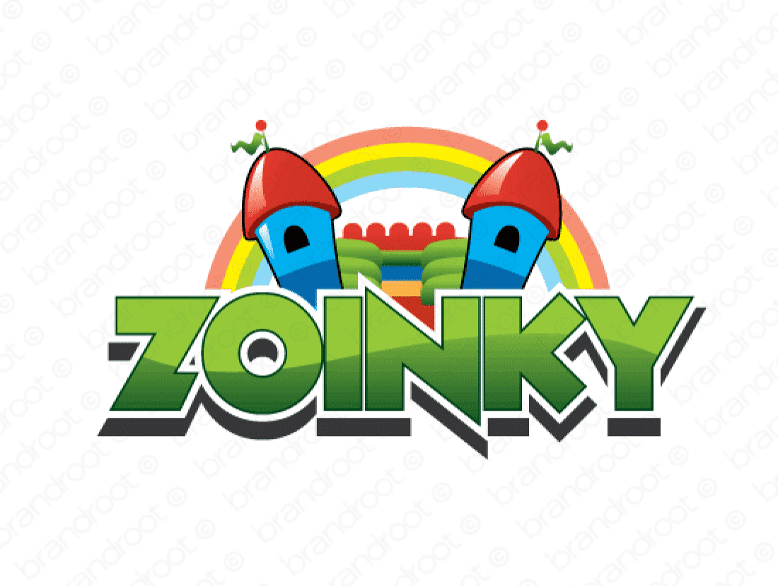 Zoinky logo design included with business name and domain name, Zoinky.com.