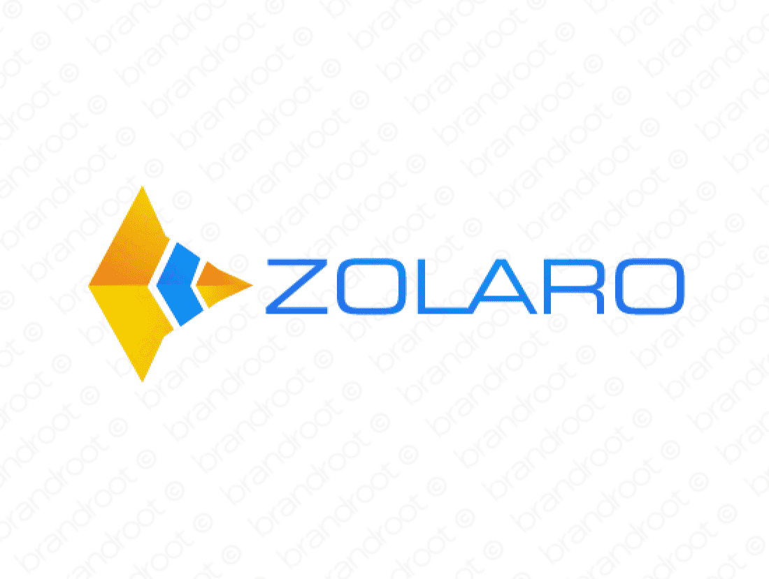 Zolaro logo design included with business name and domain name, Zolaro.com.