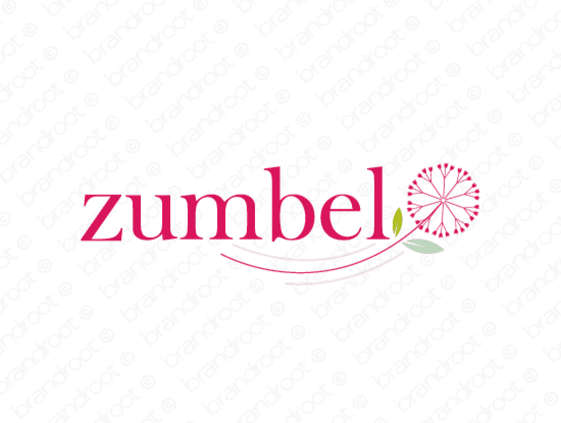 Zumbel logo design included with business name and domain name, Zumbel.com.