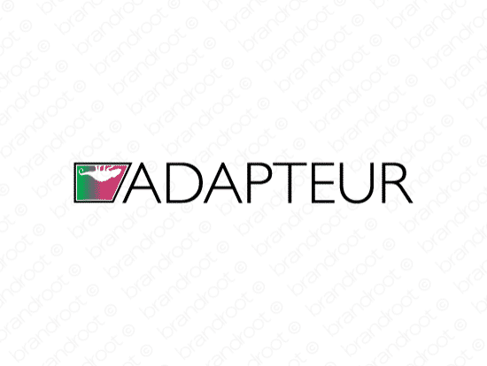 Adapteur logo design included with business name and domain name, Adapteur.com.