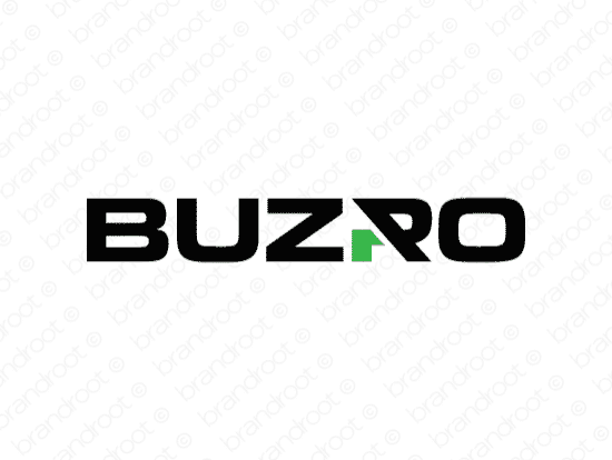 Buzro logo design included with business name and domain name, Buzro.com.
