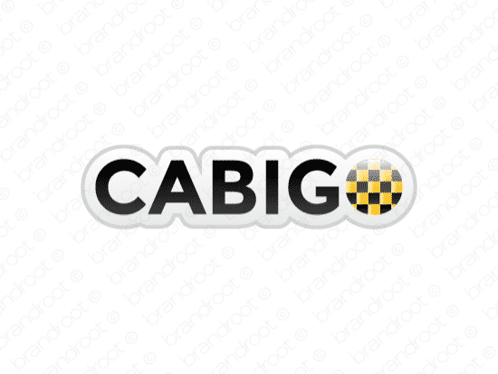 Cabigo logo design included with business name and domain name, Cabigo.com.