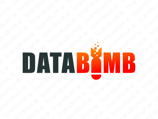 Databomb logo design included with business name and domain name, Databomb.com.
