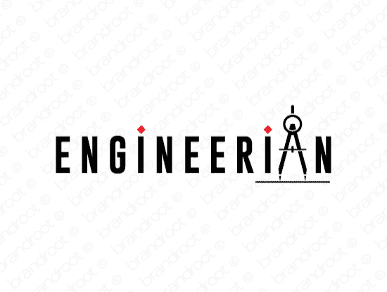 Engineerian logo design included with business name and domain name, Engineerian.com.