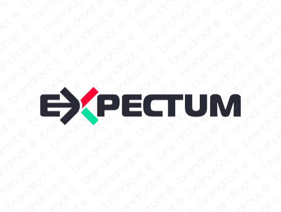 Expectum logo design included with business name and domain name, Expectum.com.
