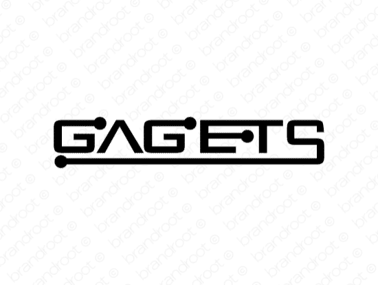 Gagets logo design included with business name and domain name, Gagets.com.