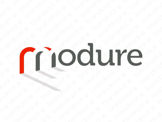 Modure logo design included with business name and domain name, Modure.com.