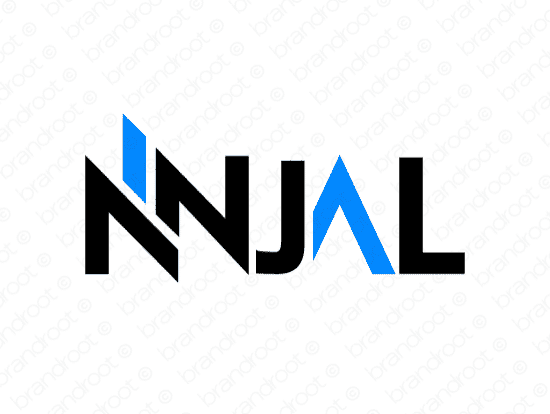 Ninjal logo design included with business name and domain name, Ninjal.com.