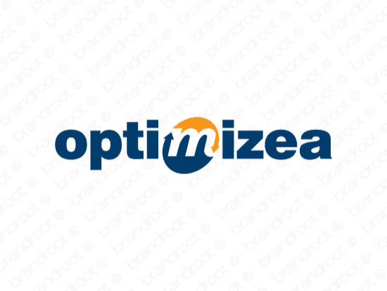 Optimizea logo design included with business name and domain name, Optimizea.com.