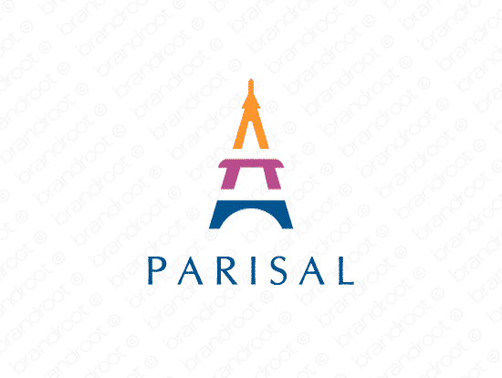Parisal logo design included with business name and domain name, Parisal.com.