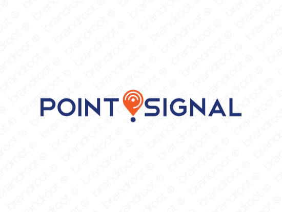 Pointsignal logo design included with business name and domain name, Pointsignal.com.