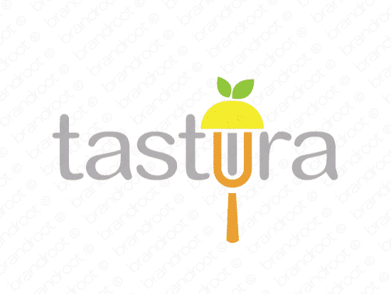 Tastira logo design included with business name and domain name, Tastira.com.