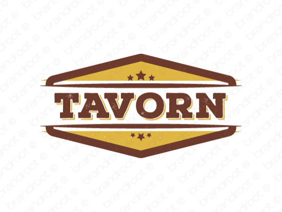 Tavorn logo design included with business name and domain name, Tavorn.com.
