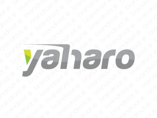 Yaharo logo design included with business name and domain name, Yaharo.com.