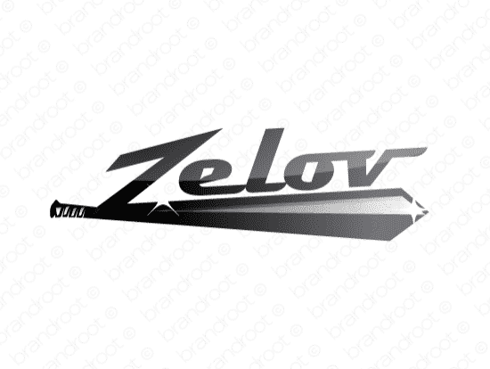 Zelov logo design included with business name and domain name, Zelov.com.