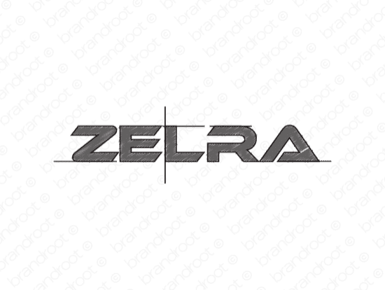 Zelra logo design included with business name and domain name, Zelra.com.
