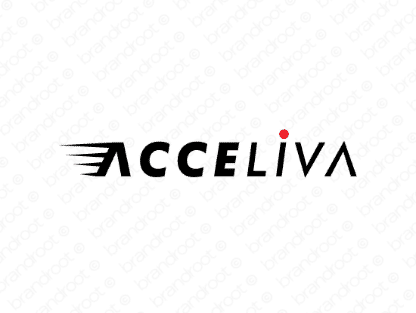 Acceliva logo design included with business name and domain name, Acceliva.com.