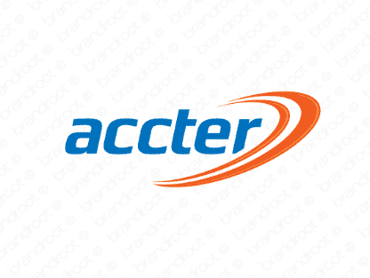 Accter logo design included with business name and domain name, Accter.com.