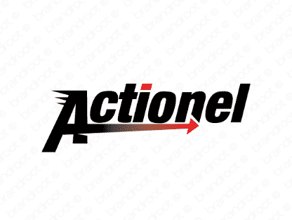 Actionel logo design included with business name and domain name, Actionel.com.