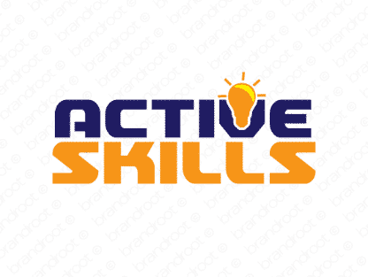 Activeskills logo design included with business name and domain name, Activeskills.com.