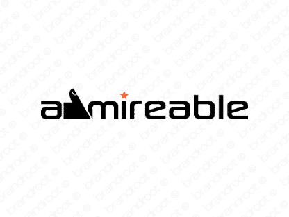 Admireable logo design included with business name and domain name, Admireable.com.