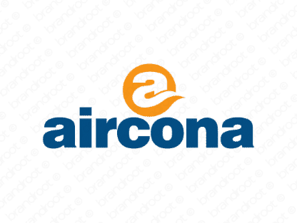 Aircona logo design included with business name and domain name, Aircona.com.