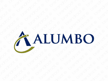 Alumbo logo design included with business name and domain name, Alumbo.com.