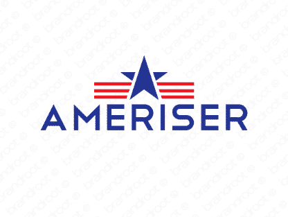 Ameriser logo design included with business name and domain name, Ameriser.com.