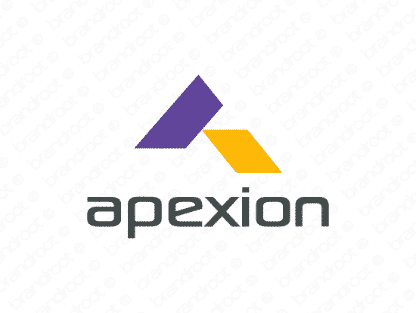 Apexion logo design included with business name and domain name, Apexion.com.