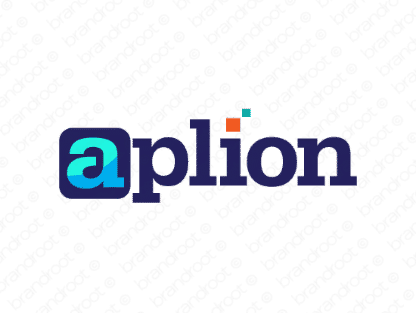 Aplion logo design included with business name and domain name, Aplion.com.